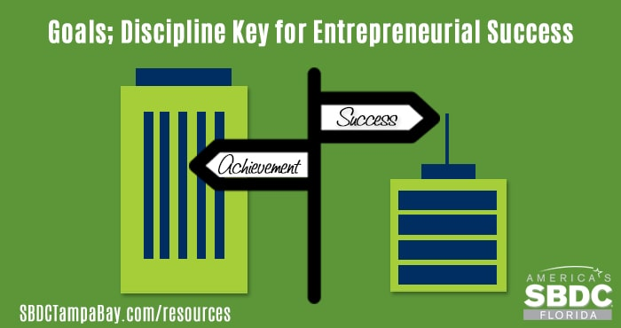 Goals; Discipline Key for Entrepreneurial Success