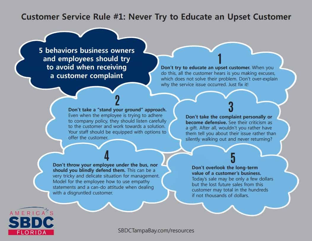 Customer Service Rule #1: Never Try to Educate an Upset Customer