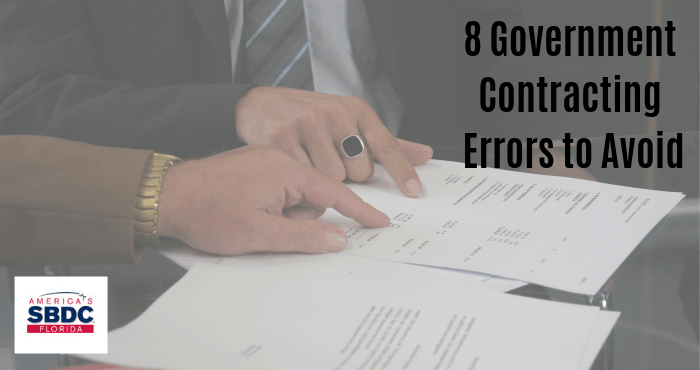 8 Government Contracting Errors to Avoid
