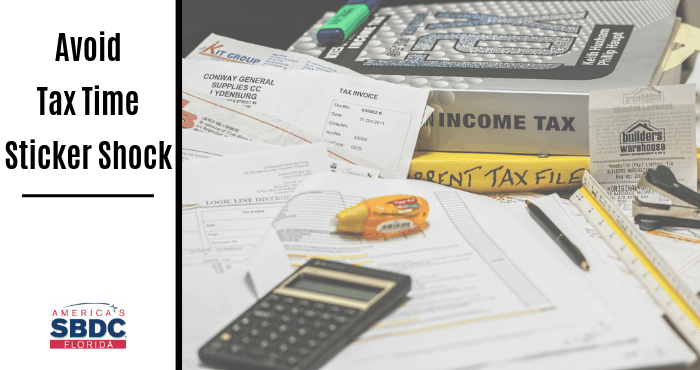 Avoid Tax Time Sticker Shock