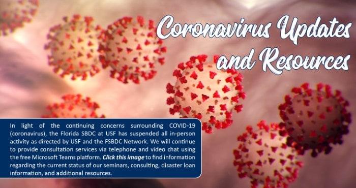 coronavirus updates from the SBDC