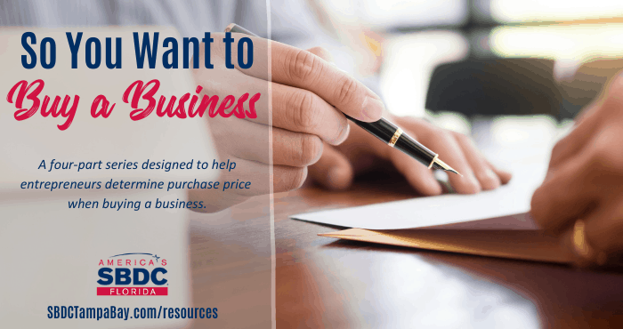 So You Want to Buy a Business